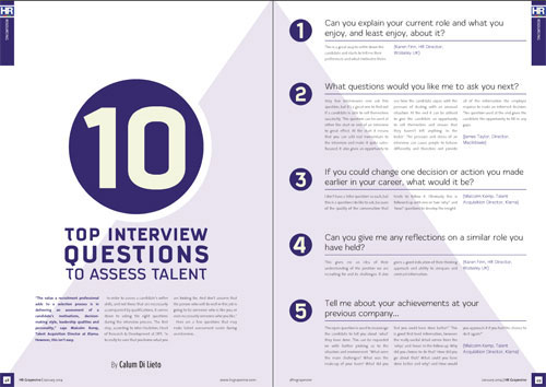 ten top interview questions to assess talent