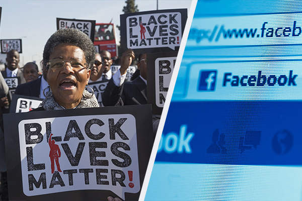 Facebook staff warned over defacing black rights slogans