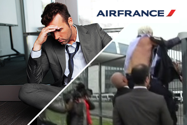Air France suspend staff after ripping off HR Head's clothes over job cuts