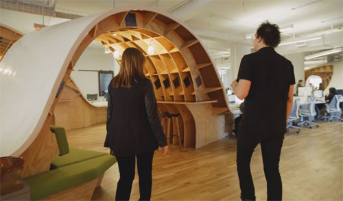 Ad agency create incredible single-desk office
