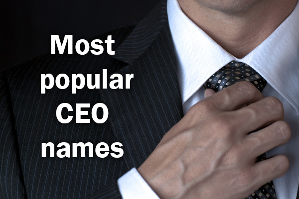 The UK's most popular CEO names