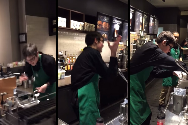 Starbucks autistic employee finds Facebook fame as 'Dancing Barista'
