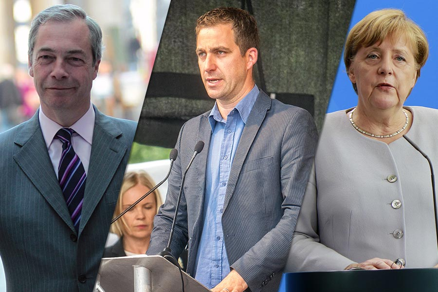 Political Punch-up: Farage vs Brendan Cox & Merkel