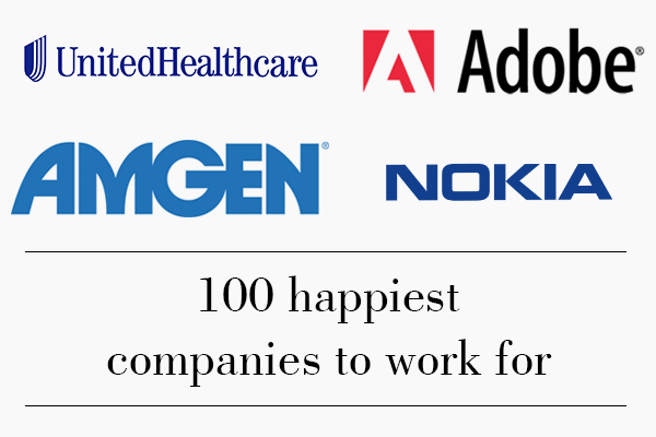 Happiest companies to work for in 2016 revealed