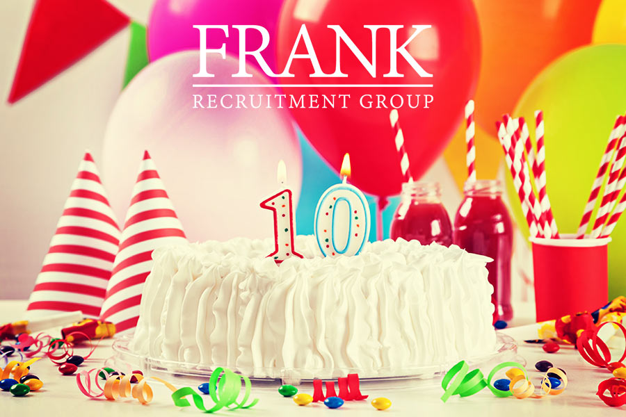 Frank Recruitment Group celebrates a decade in business