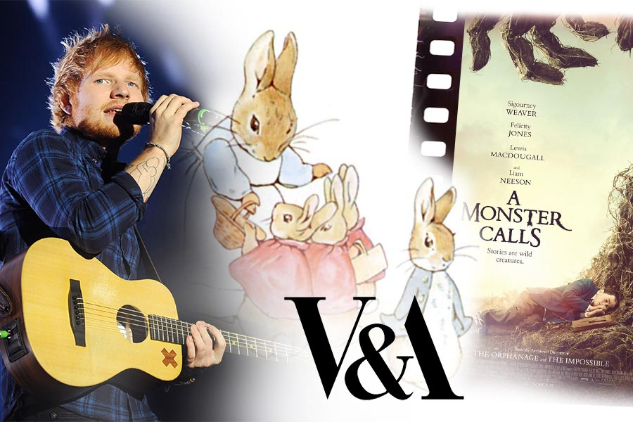 HR on the weekend: A Monster Calls, Beatrix Potter at V&A and Ed Sheeran's album