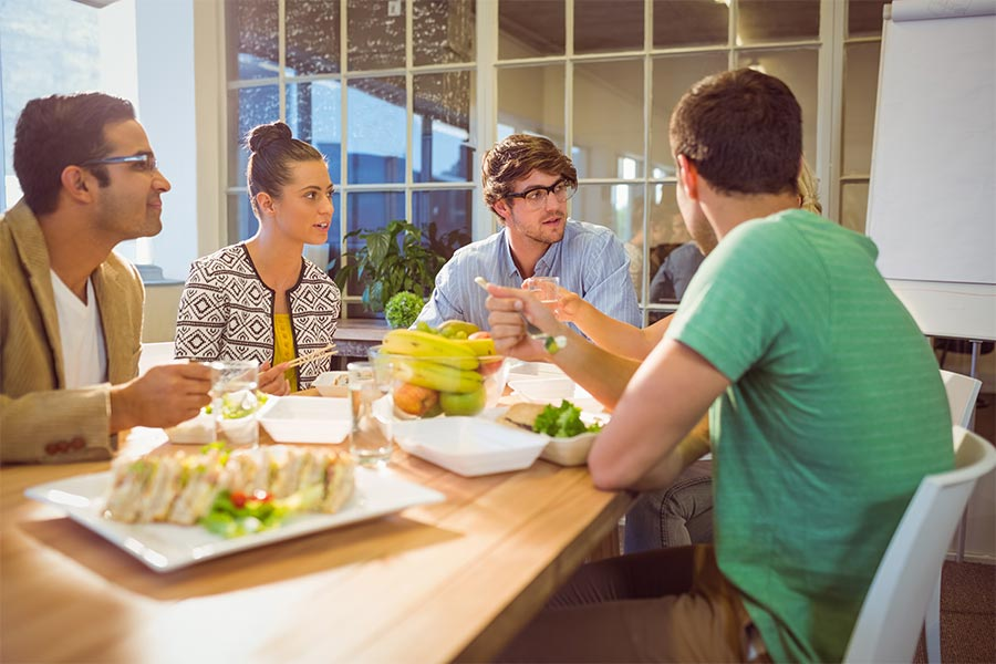 HR Dilemma: Should employees engage in work-related activity during lunch?