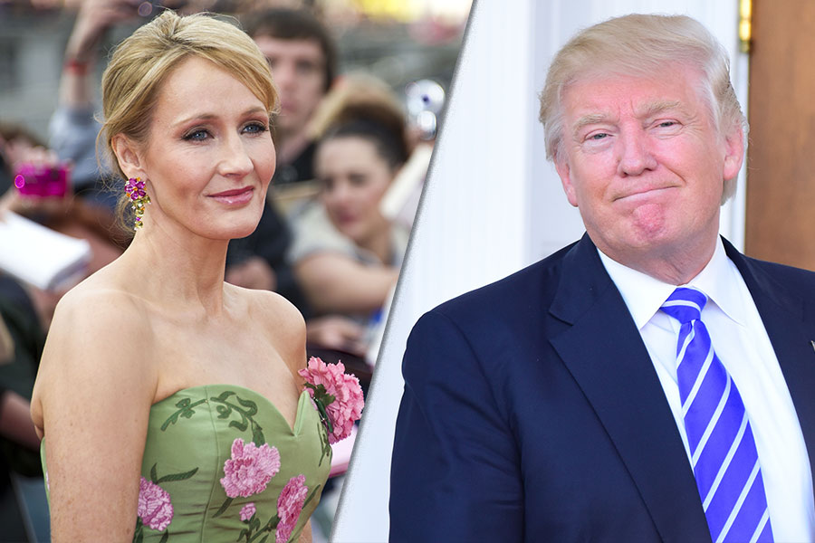 Political Punch-up: Donald Trump vs JK Rowling