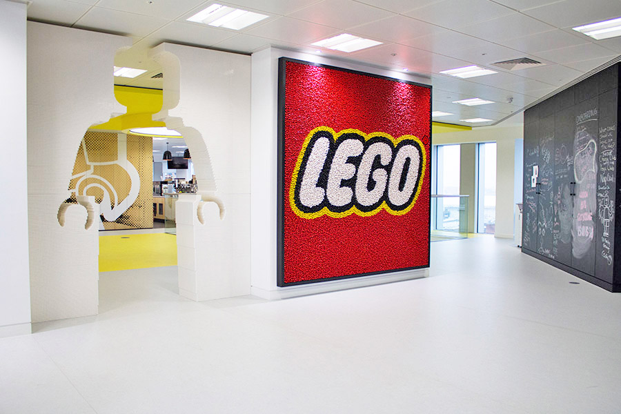 Lego unveils office built with their famous blocks