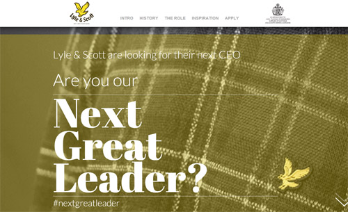 Lyle & Scott go social in search for CEO