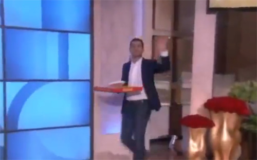 Oscars pizza boy bags $1000 bonus