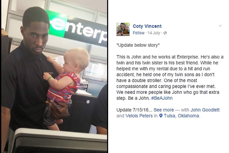 Employee's kind act goes viral on Facebook