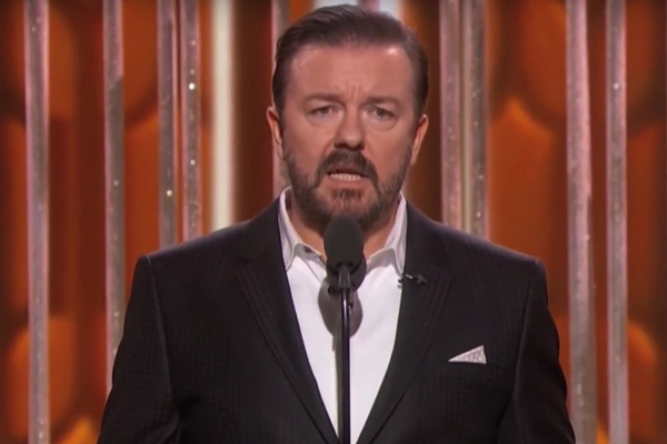 VIDEO: Ricky Gervais takes on Hollywood gender pay gap
