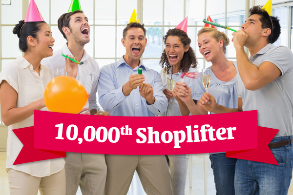 Store staff celebrates 10,000th shoplifter with cake, champagne and a band