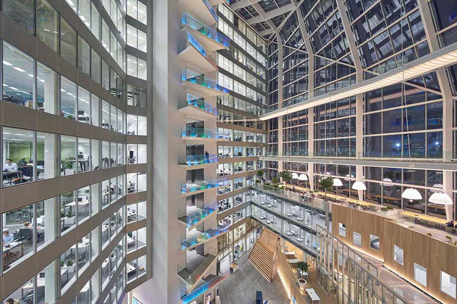Inside the award-winning 'healing office'