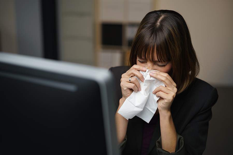 Over two-thirds of employees go into work when sick