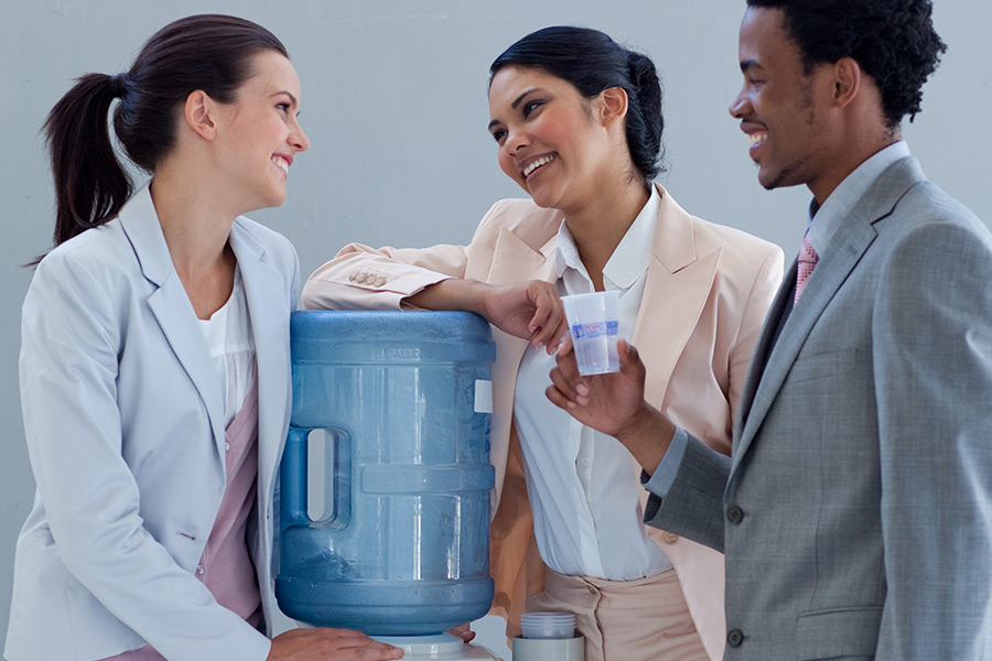 'Water cooler' moments vital to staff wellbeing