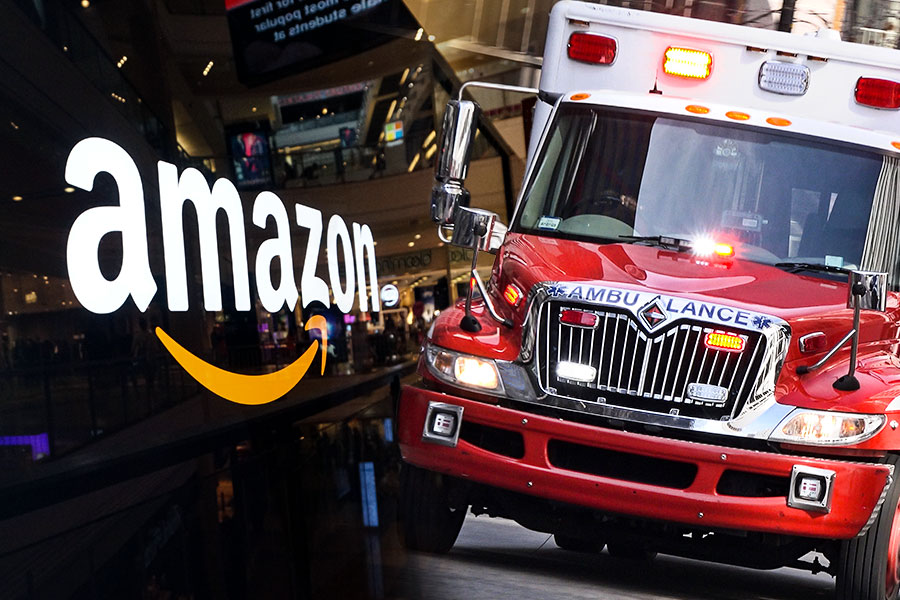 Amazon involved in robot worker warehouse incident