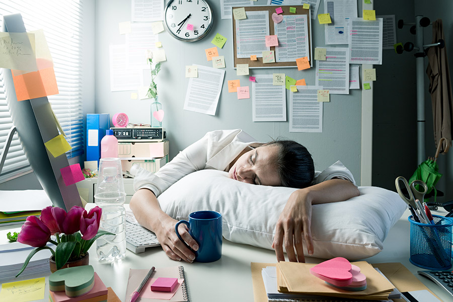Which Government has banned work naps?