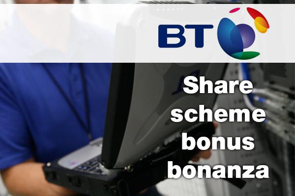 BT staff get share scheme bonus bonanza