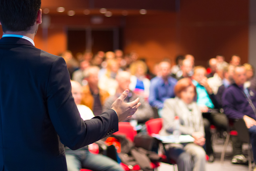 Will conferences and events return in the next 12 months?
