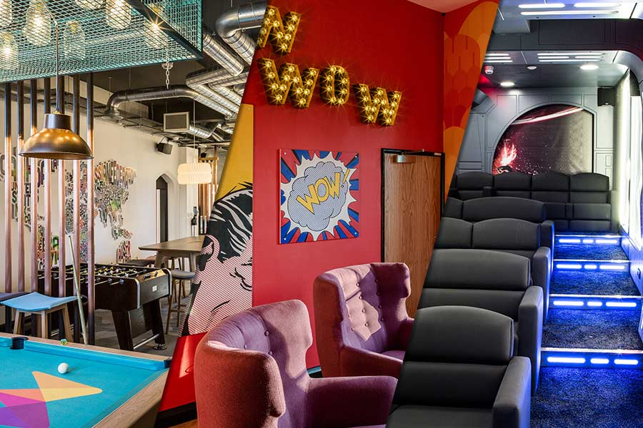 EXCLUSIVE: Laurence Llewelyn-Bowen and Chris Morling, Founder of money.co.uk create dream workspace