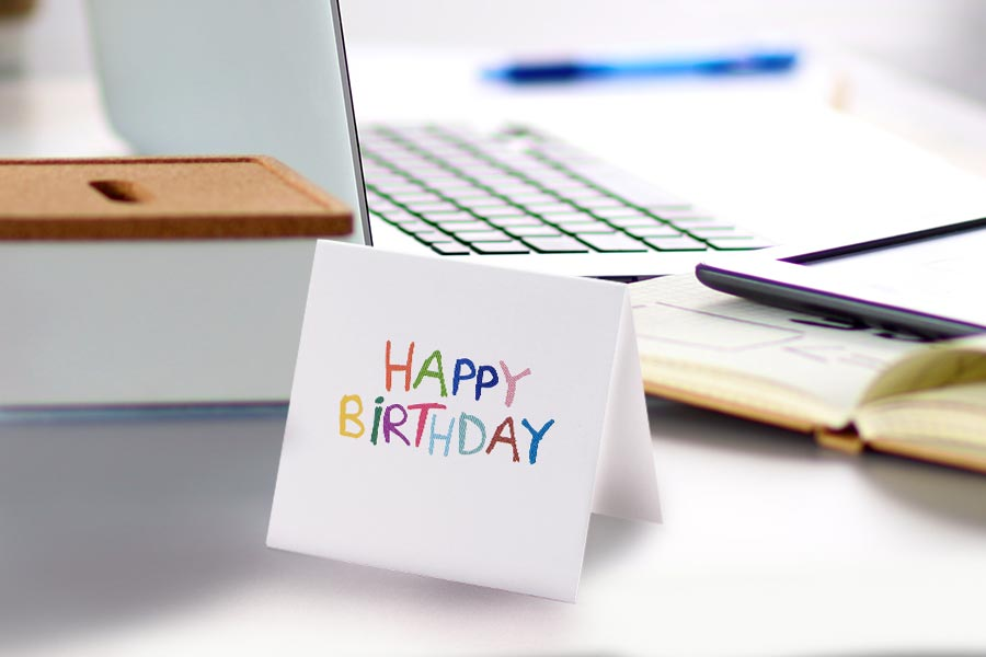 This CEO sends 7,400 birthday cards to staff every year