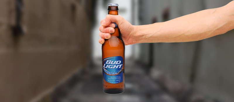 Homeless given 'trolley full' of Bud Light in publicity stunt that leaves city 'outraged'