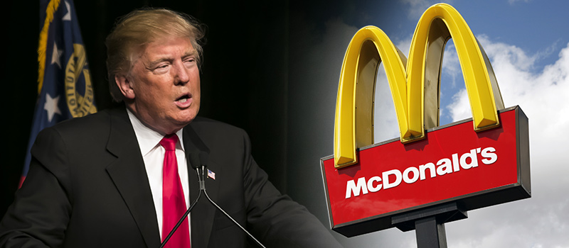 Political Punch-up: McDonald's vs Donald Trump