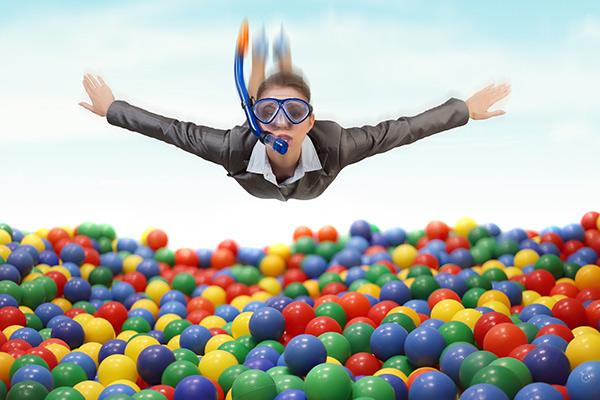 Sweet factory installs ball pool to de-stress staff