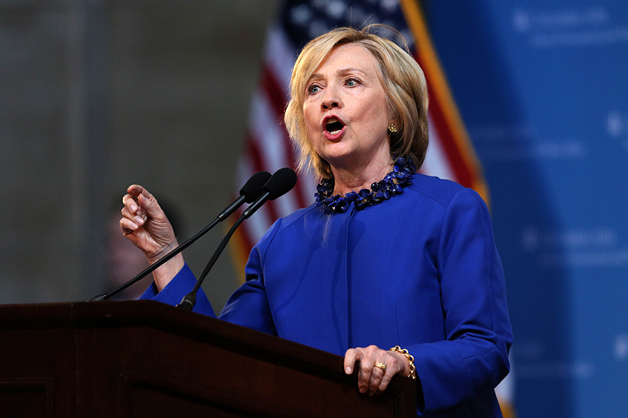 Hillary Clinton becomes first female Democratic presidential nominee