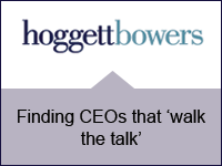 Finding CEOs that 'walk the talk'