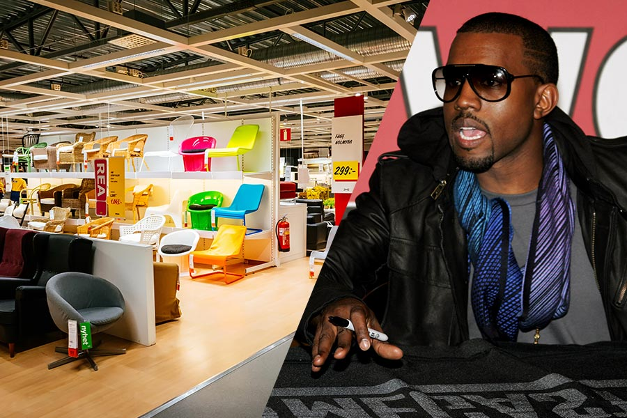 Will Kanye West diversify his business portfolio with help from IKEA?