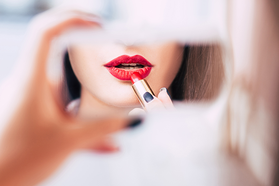 Should lipstick be banned at work?