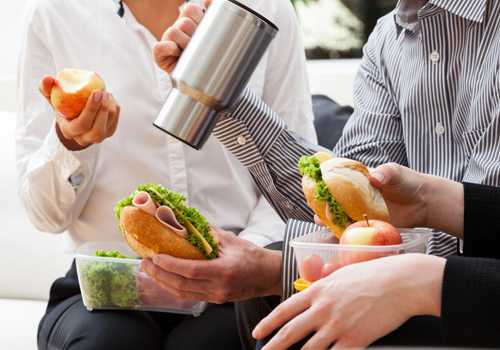 Three quarters of staff not taking lunch breaks