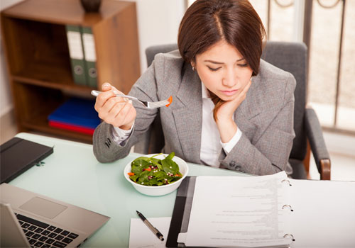 HR professionals not taking lunch breaks