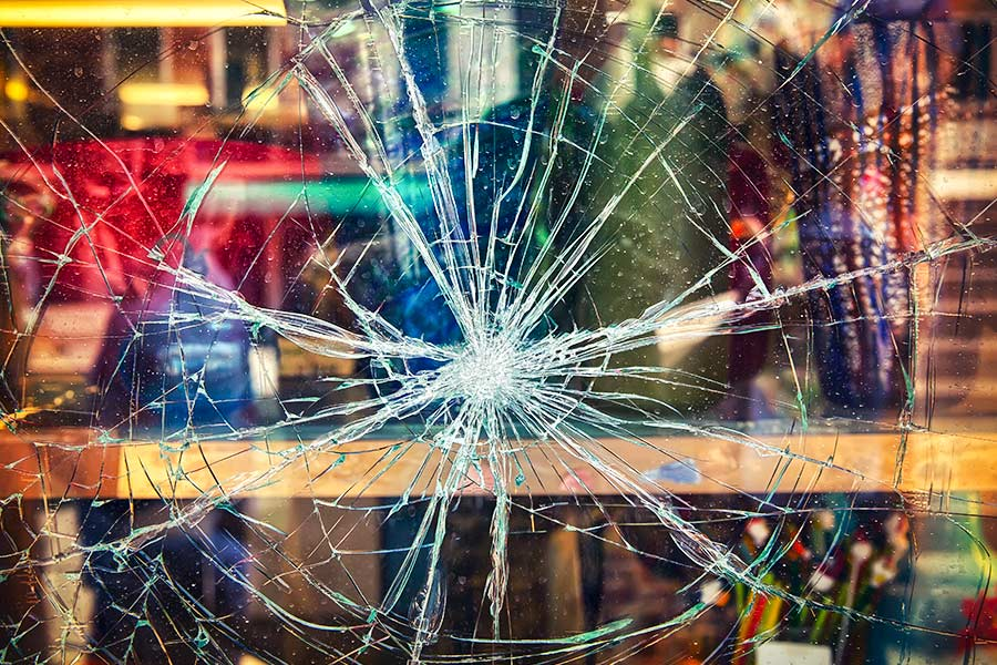 Recruitment agency window smashed over pay row