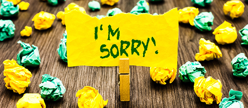How to apologise when you've screwed up