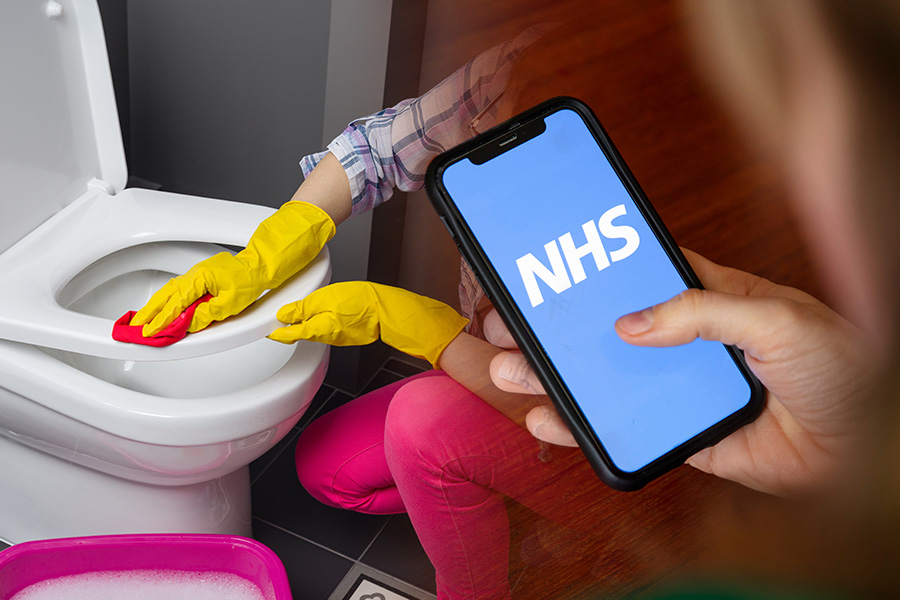 NHS Covid app 'staffing crisis' causes toilet trouble for one employer