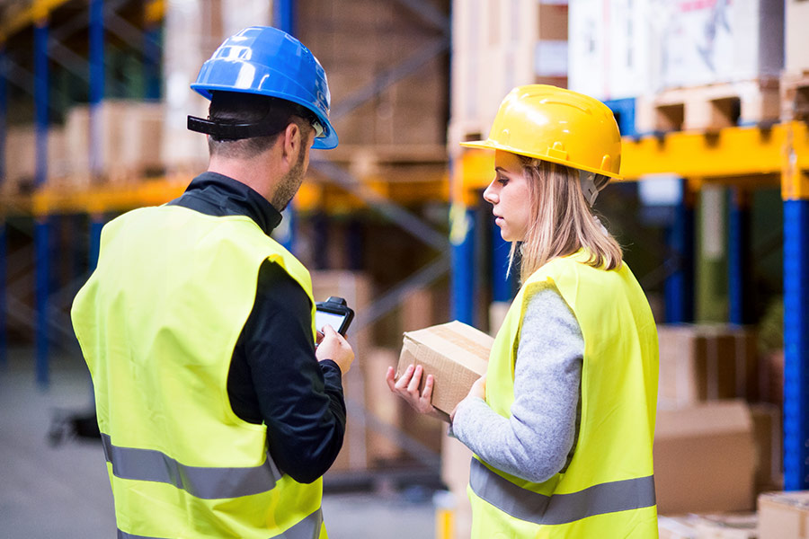 'No women work in the warehouse'