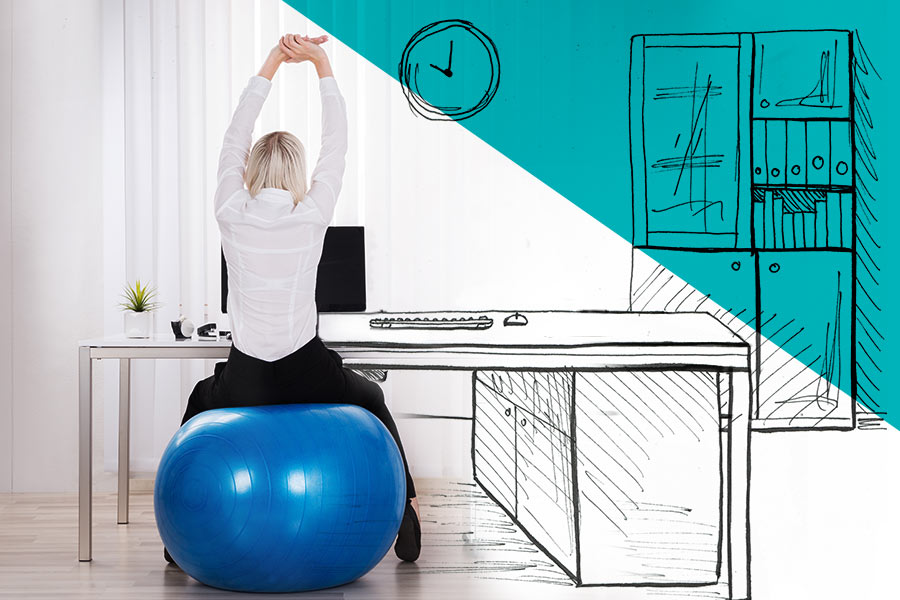 5 office workouts staff can do from their desks