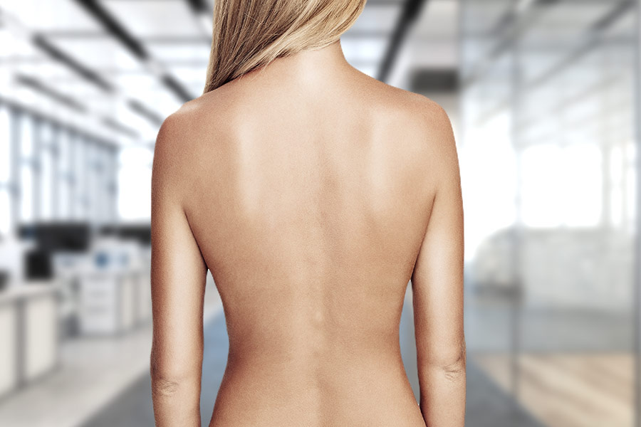 Female employee paid to parade naked in office