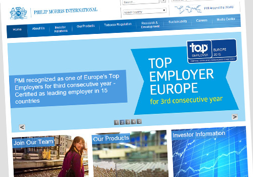 Philip Morris International wins Top Employers award for third consecutive year