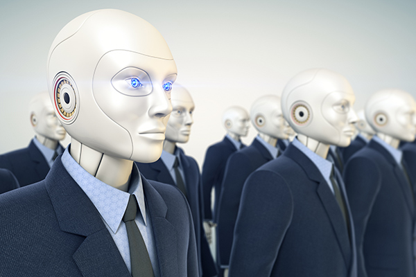 Robot takeover will begin with white collar workers