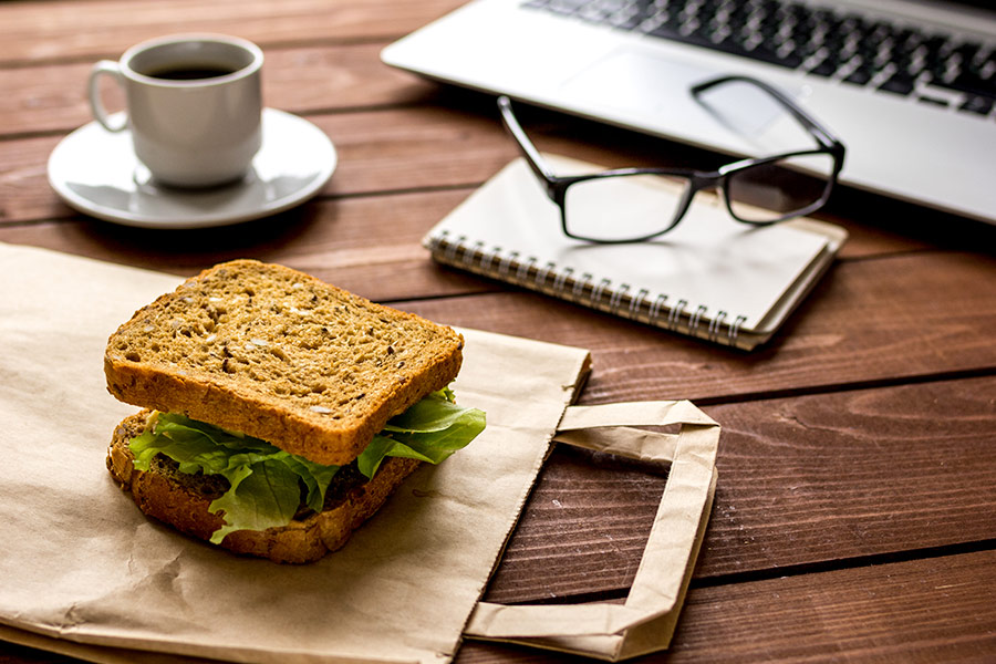 Employee reported for...eating a sandwich