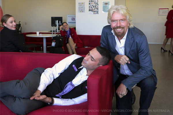 Richard Branson had this to say when he caught a dozing worker