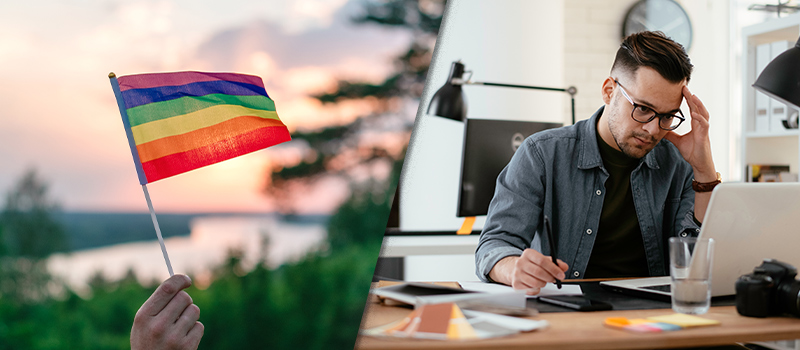 1 in 5 workers feel coming out is a disadvantage at work