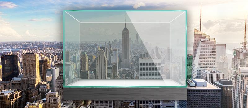 Recruiter hosts bizarre interviews in Times Square glass box