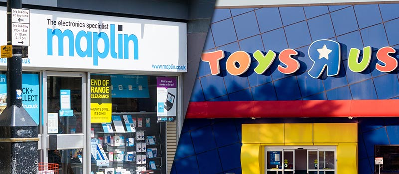 Toys R Us and Maplin latest retail collapses