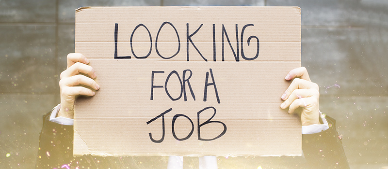 Plucky jobseeker takes a sign to the streets in order to find work